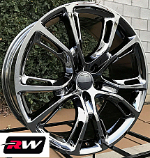 22 inch RW Wheels for Jeep Grand Cherokee Dark Chrome Rims SRT8 Spider Monkey