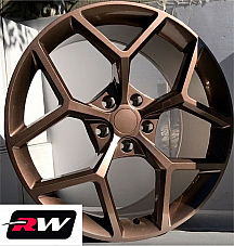 20 x9 inch Wheels for Chevy Camaro 2010-2019 Copper paint Z28 Rims