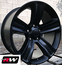 20 inch 20 x9 Wheels for Dodge Ram 1500 Satin Black 2013-2017 Ram 1500 Rims