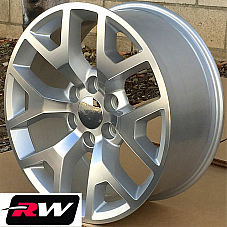 22 inch 22 x9 Wheels for Chevy Avalanche Silver Machined GMC Sierra 2014 Rims