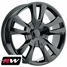 22 inch 22 x9 Wheels for Chevy Avalanche Gloss Black RST Edition Rims 6x139.7