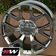 20 inch 20 x9 Wheels for Chevy Avalanche Chrome GMC Sierra 2014 2015 Rims