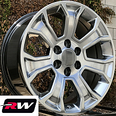22 inch 22 x9 Wheels for Chevy Avalanche Hyper Silver Rims 5665
