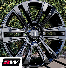 20 inch Chevy Avalanche Factory Style Denali Wheels 2017 2018 Gloss Black Rims