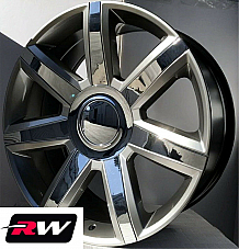 22 inch Cadillac Escalade OE Factory Replica Wheels 4739 Silver Chrome Rims 22x9