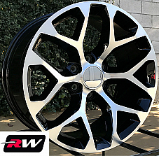 20 inch 20 x9 Wheels for Chevy Avalanche Black Machined Rims CK156