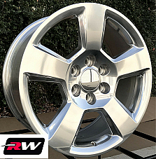 20 inch 20 x9 Wheels for Chevy Avalanche Polished Rims 5652