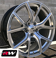 20 RW Wheels for Dodge Durango Hyper Silver Grand Cherokee SRT Night Style Rims