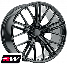 20 inch 20x9 Wheels for Chevy Camaro 2010-2019 Gloss Black Machined Rims ZL1