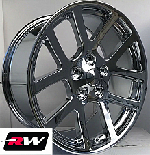 22 RW Wheels for Dodge Ram 1500 22x10 Chrome SRT10 SRT 10 Style Rims 5x139.7