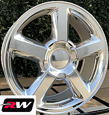 20 x8.5 inch Chevy Avalanche LTZ 5308 OE Replica Wheels Polished Rims 6x139.7