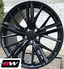 20 inch 20x9 Wheels for Chevy Camaro 2010-2019 Gloss Black Rims ZL1 5x120 +30
