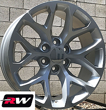 20 inch 20 x9 Wheels for Chevy Avalanche Silver Machined Rims CK156