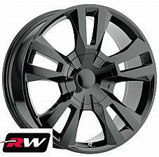 24 inch 24 x10 Wheels for Chevy Avalanche Gloss Black RST Edition Rims
