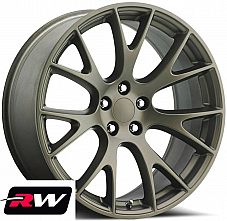 20 inch 20x9.5 Wheels for Dodge Challenger Bronze SRT Hellcat Rims 5x115 +15