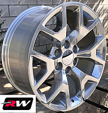 20 inch 20 x9 Wheels for Chevy Avalanche Polished GMC Sierra 2014 2015 Rims