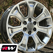 20 inch 20 x9 Wheels for Chevy Avalanche Hyper Silver Rims 5665