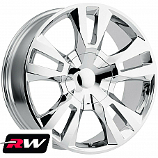 22 inch 22 x9 Wheels for Chevy Avalanche Chrome RST Edition Rims 6x139.7 +24