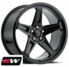 20 inch 20 x9.5 Dodge Challenger OE Replica Wheels Gloss Black SRT Demon Rims