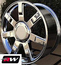 22 inch Cadillac Escalade OE Replica Wheels 5309 5309C Chrome Rims 22x9