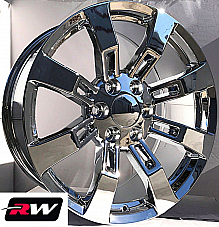 20 inch 20 x8.5 Wheels for Chevy Avalanche Chrome Rims Denali CK375