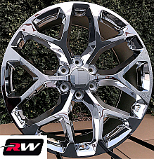 24 inch 24 x10 Wheels for Chevy Avalanche Chrome Rims CK156