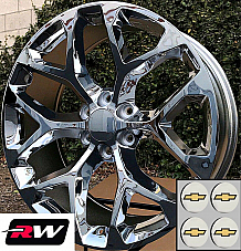 20 inch Chevy Avalanche OE Replica Snowflake Wheels Chrome Rims 20 x9 6x139.7