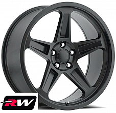 20 inch 20 x9.5 Dodge Challenger OE Replica Wheels Satin Black SRT Demon Rims