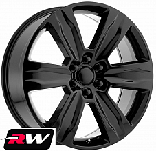 22 RW Wheels for Ford F150 2015 2019 Platinum Style Gloss Black Rims 6x135 +44