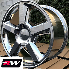 20 x8.5 inch RW 5308 Wheels LTZ for Chevy Suburban Chrome Rims 6x139.7 +31 Set