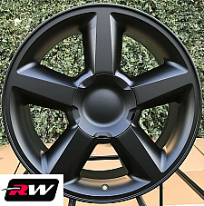 20 inch 20 x8.5 Wheels for Chevy Avalanche Matte Black LTZ Rims