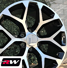 24 inch 24 x10 Wheels for Chevy Avalanche Machined Black Rims CK156
