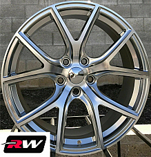 20 inch RW Wheels for Jeep Grand Cherokee 20x9 Hyper Silver SRT Night Rims 5x5