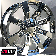 20 x8.5 inch Chevy Avalanche OE Replica Denali Wheels CK375 Chrome Rims 6x139.7