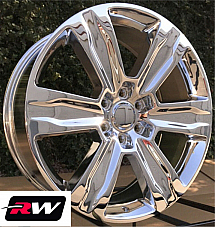 22 x9 RW Wheels for Ford F150 2015 2019 Platinum Style Chrome Rims 6x135 +44