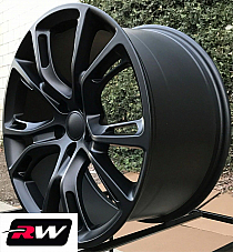 20 Jeep Grand Cherokee SRT8 OE Factory Replica Wheels Matte Black Staggered Rims