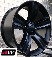 Dodge Ram 1500 OE Replica Wheels 2453 Satin Black Rims 20 inch 20x9 5x139.7mm