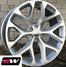 24 inch 24 x10 Wheels for Cadillac Escalade Machined Silver Rims CK156