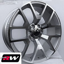 24 inch Chevy Avalanche Factory Style Honeycomb Wheels Machined Silver Rims +31