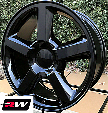 20 inch 20 x8.5 Wheels for Chevy Silverado 1500 LTZ Gloss Black Rims