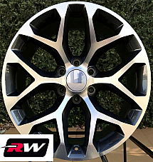 22 inch 22 x9 Wheels for Chevy Avalanche Gunmetal Machined Rims CK156