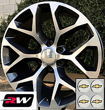 20 inch Chevy Avalanche OE Replica Snowflake Wheels Machined Gray Rims 20 x9