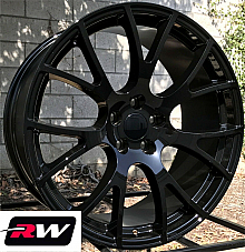 20 x9 inch Wheels for Dodge Challenger SRT Hellcat Gloss Black Rims 5x115 +20