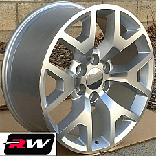 20 inch 20 x9 Wheels for Chevy Avalanche Silver Machined GMC Sierra 2014 Rims