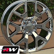 20 inch Chevy Avalanche Factory Style Honeycomb Wheels Chrome Rims 6x139.7 +27