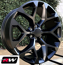 20 inch 20 x9 Wheels for Chevy Avalanche Satin Black Rims CK156