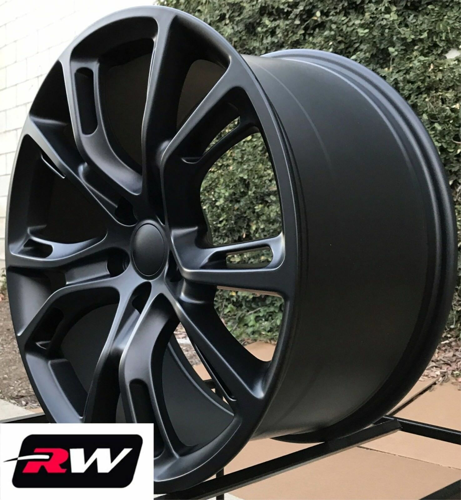 jeep wheels cherokee rims grand replica matte inch factory oe srt8 staggered 20x9 rwreplicas